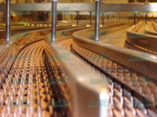 Esteira industrial para alimentos