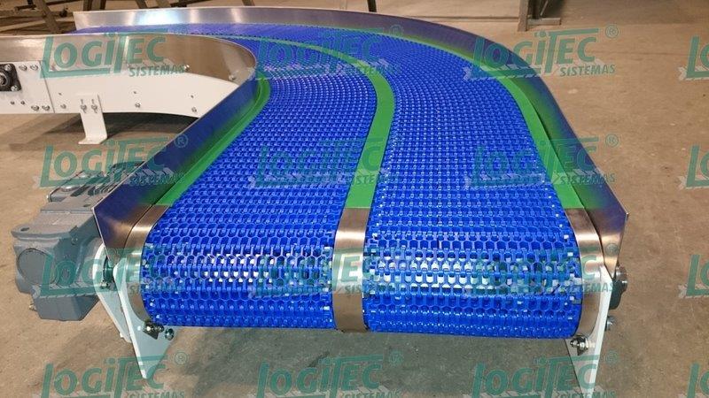 Transportador de corrente modular plástica
