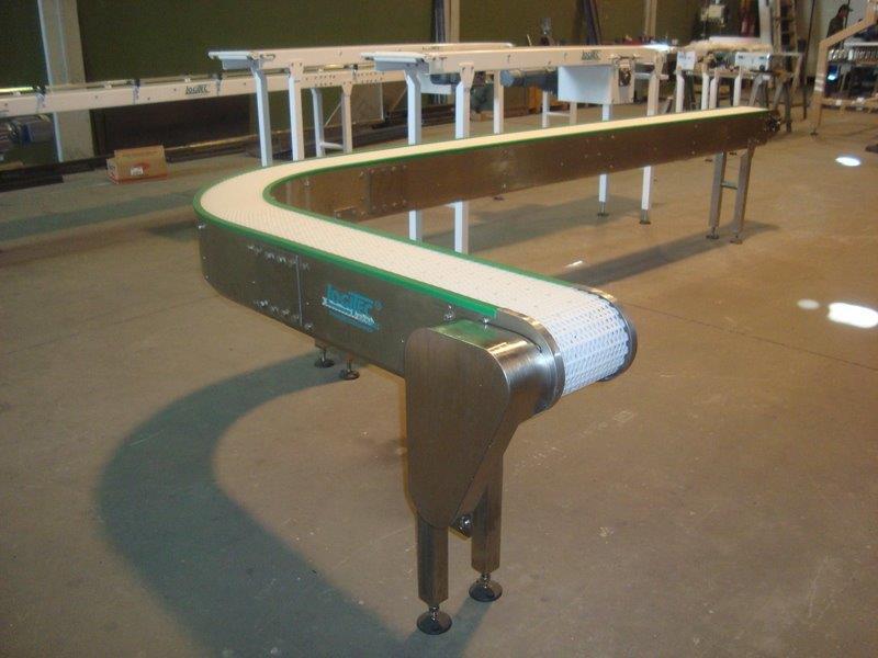 Transportador com esteira modular