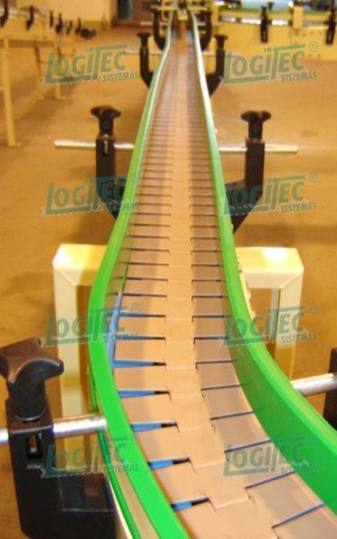 Transportador de esteira tipo plataforma