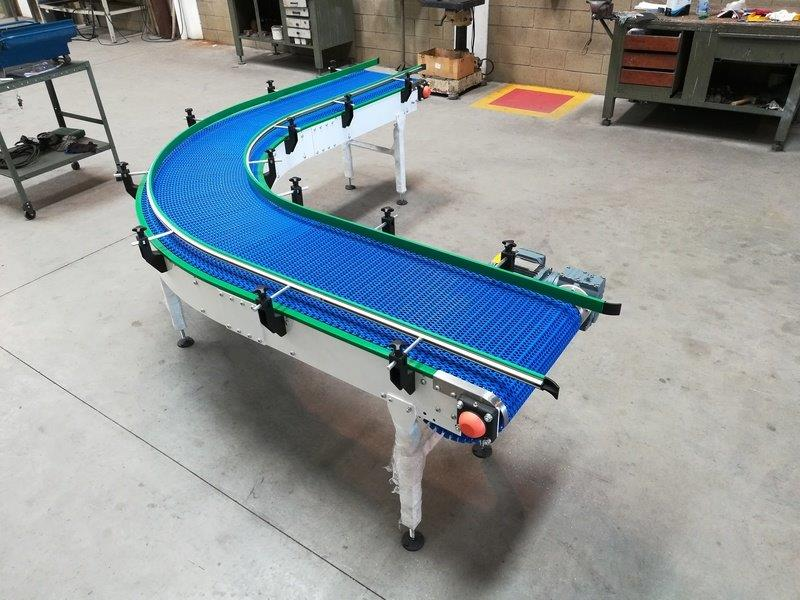 Transportadores de esteira modular plástica