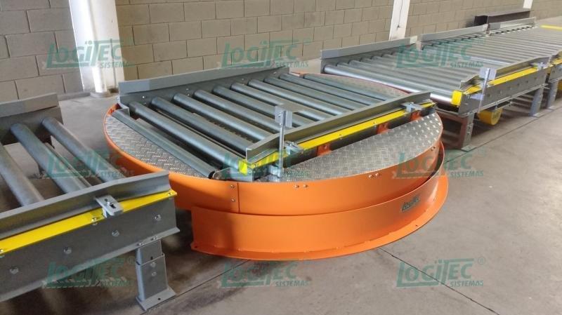 Transportadores para sistemas de paletização