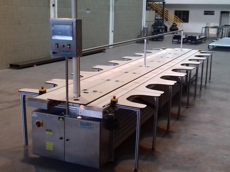 Mesa de trabalho para linha de produção