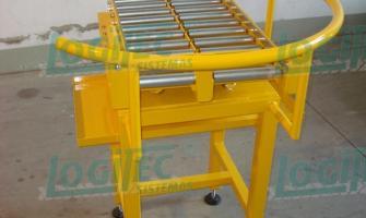 Mesa giratoria de rolos livres